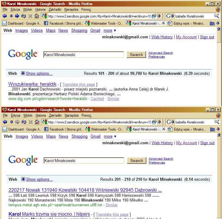 Wg Google 210 to około 99700