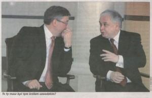 Nasz Dziennik, robiąc aluzję do artykułu o Wielkiej Genealogii Minakowskiego, przedstawił Prezydenta i Marszałka Sejmu rzekomo dyskutujących na ten temat.