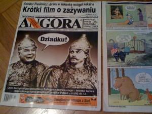 Pierwsza i ostatnia strona okładki Angory, nr 51/2009