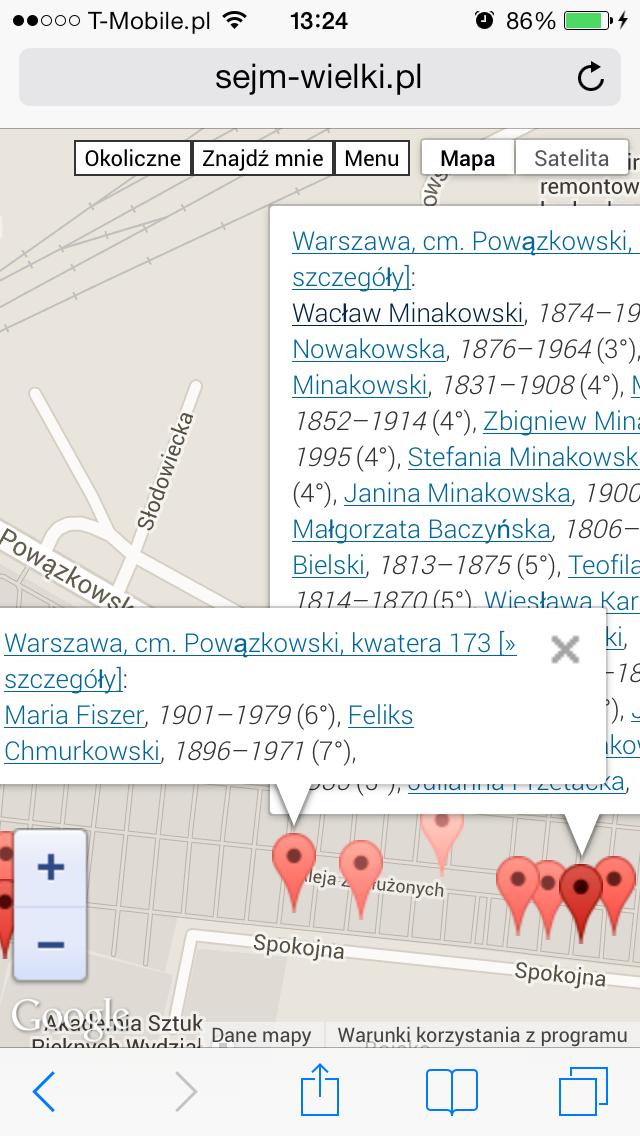 Groby rodzinne M.J.Minakowskiego na warszawskich Powązkach
