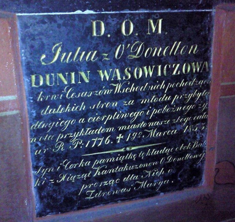Epitafium Julii z O'Donnellów Dunin-Wąsowiczowej