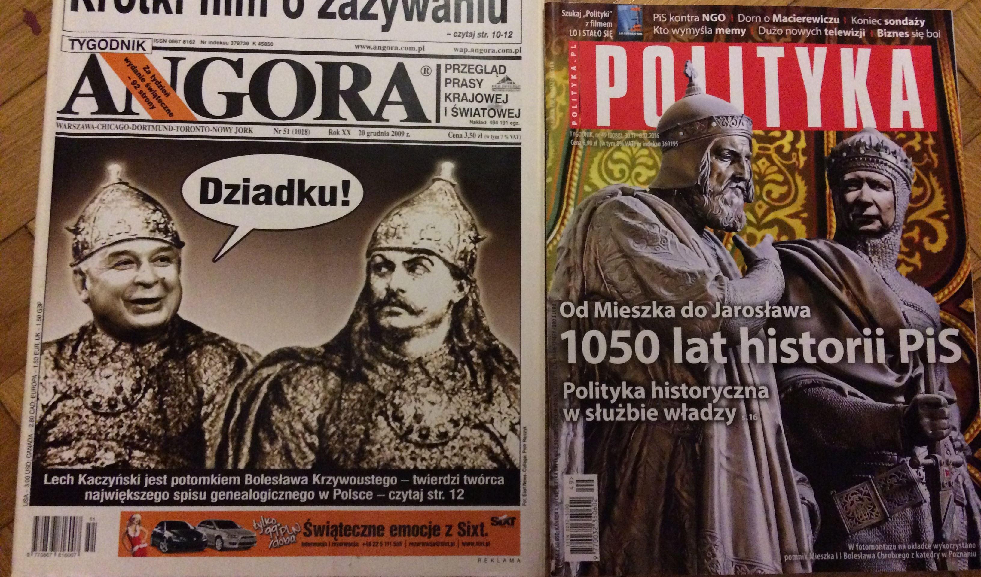 Angora z grudnia 2009 i Polityka z grudnia 2016